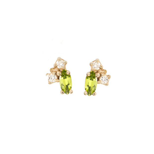 Birthstone Studs: Peridot (August)