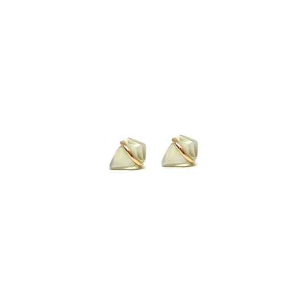 Prehenite Mini Kite Studs