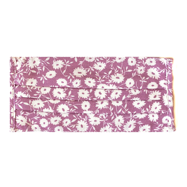 Purple Daisy Face Mask