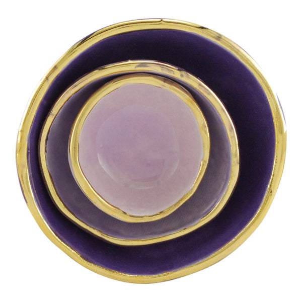Violet Ombre Jewelry Dishes
