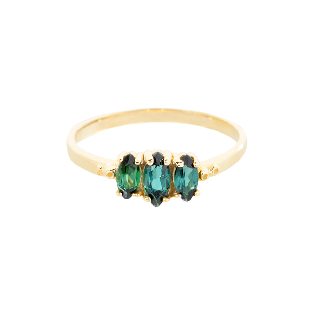 Teal Rosa Ring