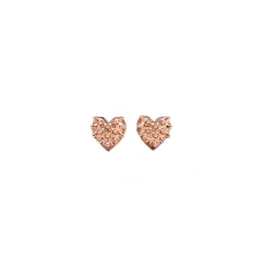 Mini Tender Heart Studs - Rose Gold