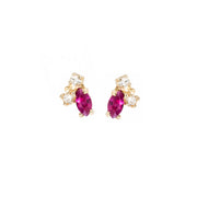 Birthstone Studs: Ruby (July)