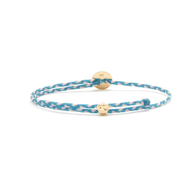 Slider Bracelet - Turquoise/Light Pink Blend