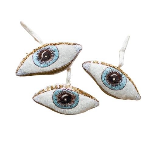 Evil Eye Lavender Ornament