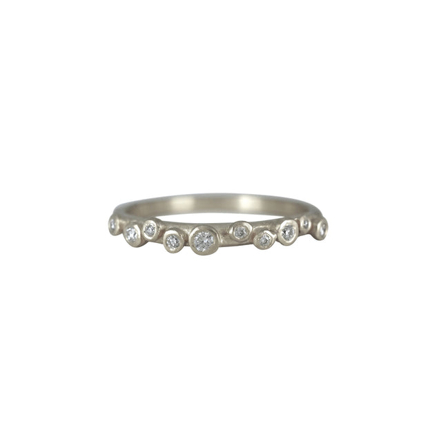 Galaxy Diamond Band - White Gold