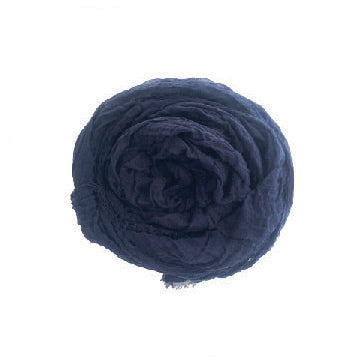 Cotton Scarf - Blueblack