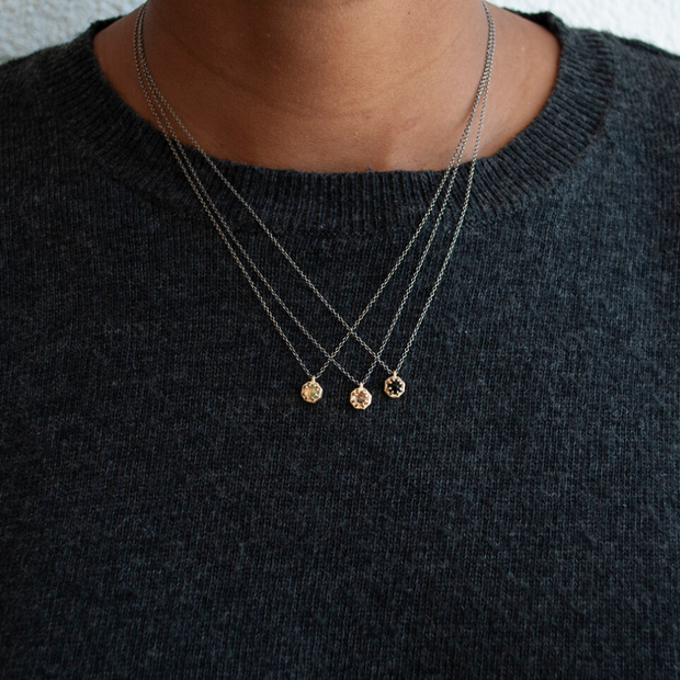 Lauren Wolf Tiny Gold Octagon Necklace