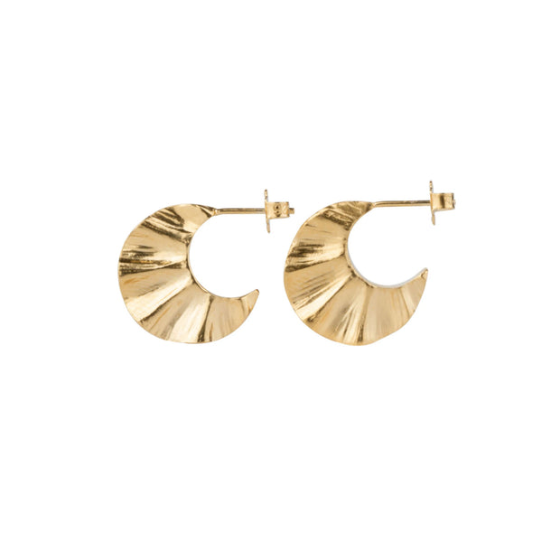 Wave Hoops - Gold Vermeil