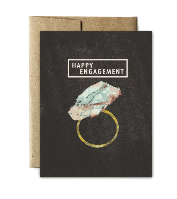 Gemstone Happy Engagement Card - Shelter Jewelry Shop DC