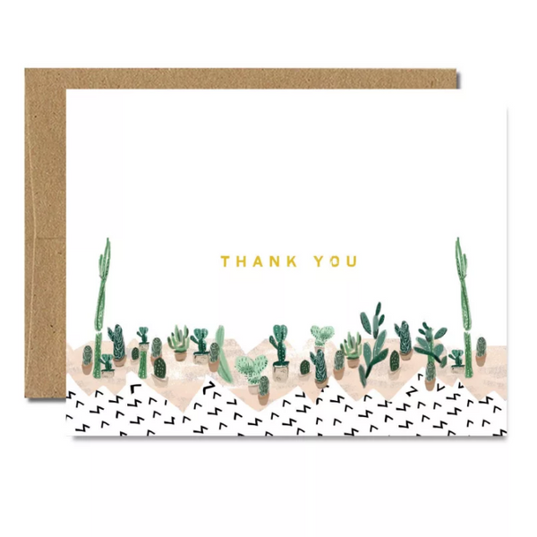 Foil Succulent Thank You Card - Shelter Jewelry Shop DC