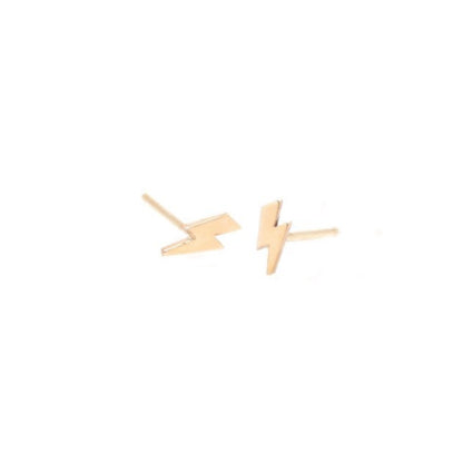 Itty Bitty Lightning Bolt Stud - Single