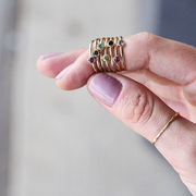 Turquoise Birthstone Stacking Ring