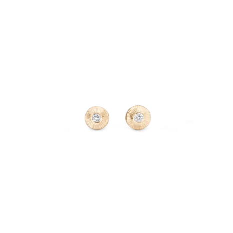 Rise Yellow Gold and Diamond Studs