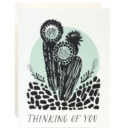 Cactus Thinking Of You Card