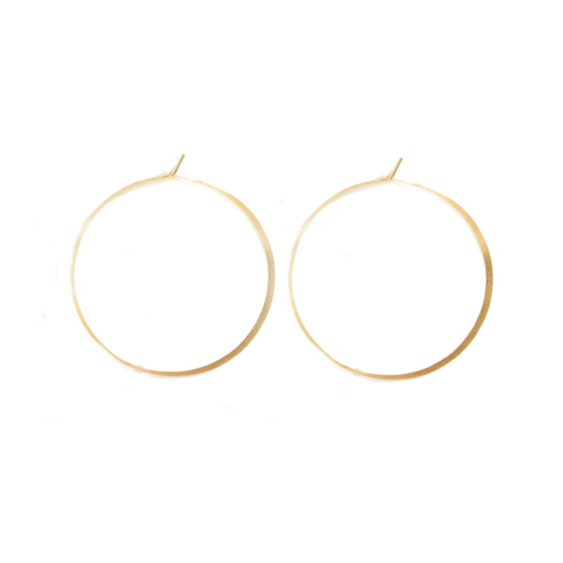14k Gold Extra Large Hoops