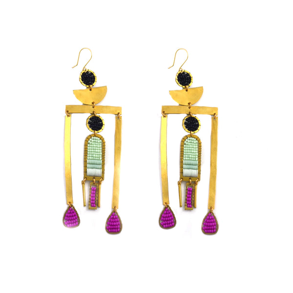 Pink Tower Earrings - Shelter Jewelry Shop DC