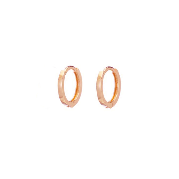 Petite Hoops - Rose Gold - Shelter Jewelry Shop DC