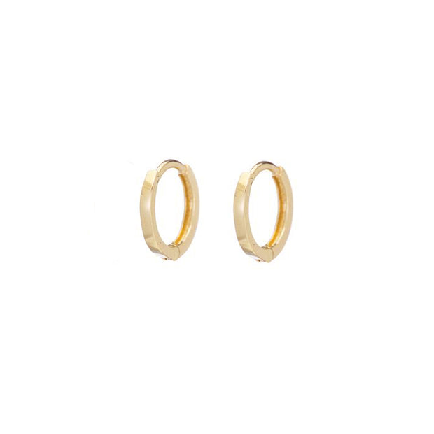 Petite Hoops - Yellow Gold - Shelter Jewelry Shop DC
