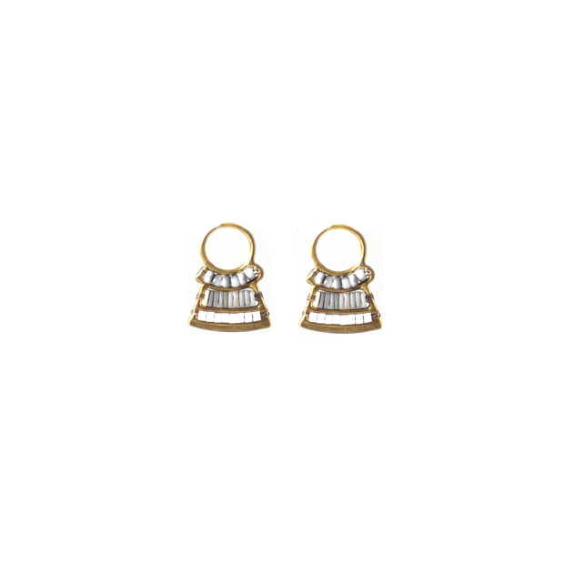 Spaceship Stud Earrings - Shell
