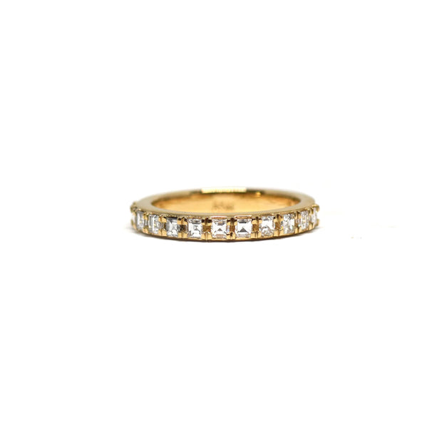 Square Baguette Diamond Band