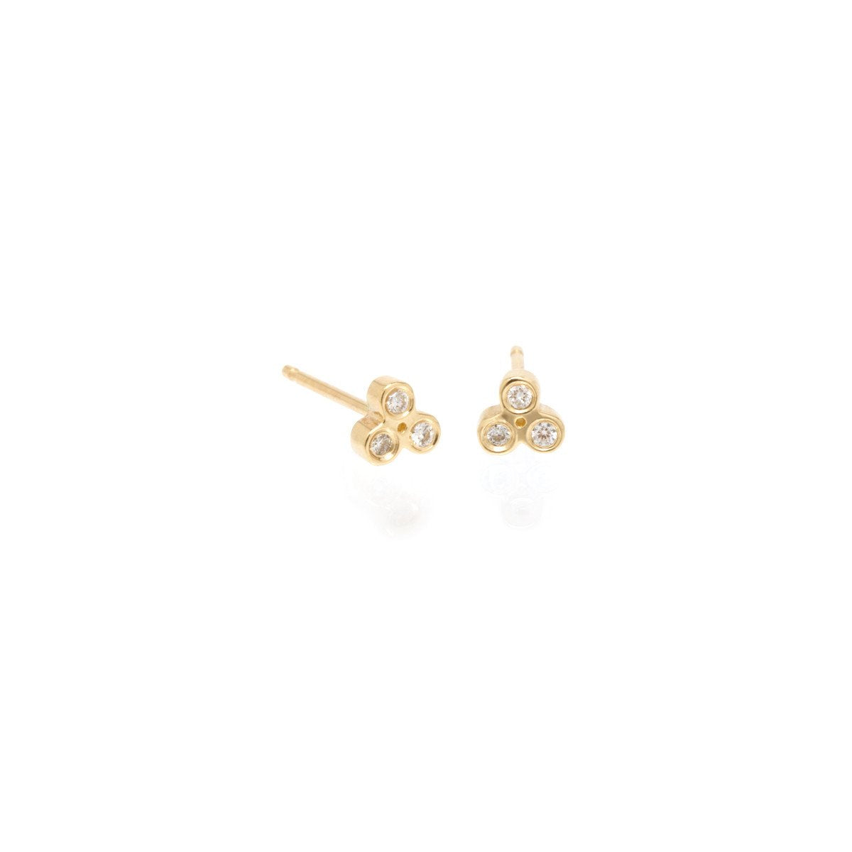 Tiny Trio Diamond Studs