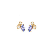 Birthstone Studs: Tanzanite (December)