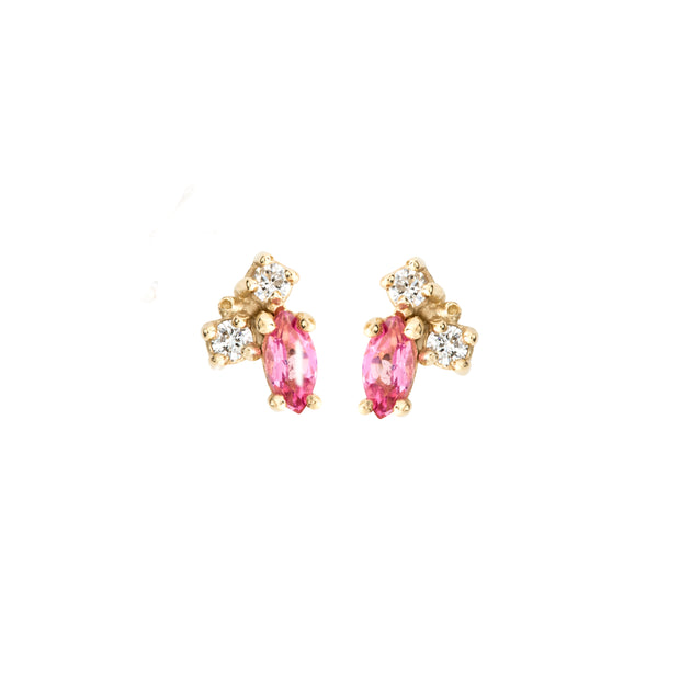 Birthstone Studs: Tourmaline (October)