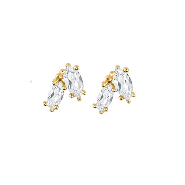 Victory Studs - White Sapphire