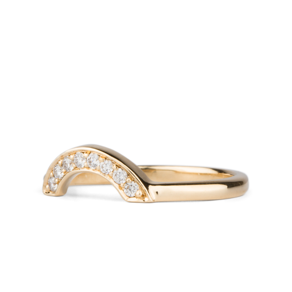 White Diamond Small Pave Arch Band