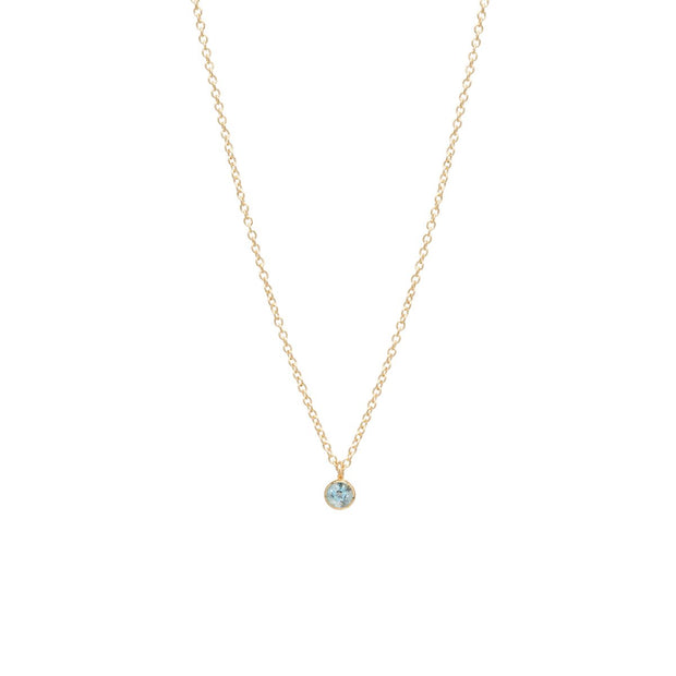 Aquamarine Choker Pendant Necklace