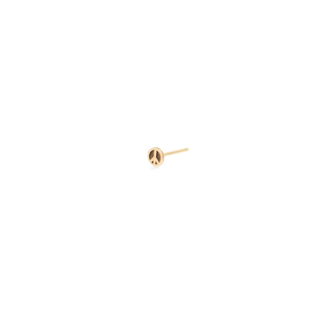 Itty Bitty Peace Sign Stud - Single