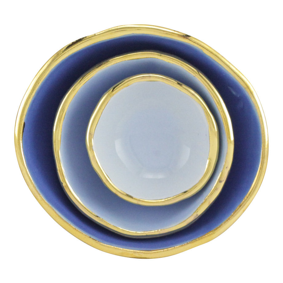 Blue Ombre Jewelry Dishes - Shelter Jewelry Shop DC