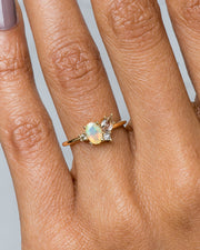 Eaves Cluster Opal with Morganite Ring