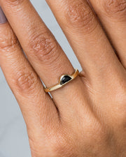 Half-Moon Black Jade Ring