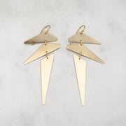 Punk Earrings - Brass - Shelter Jewelry Shop DC