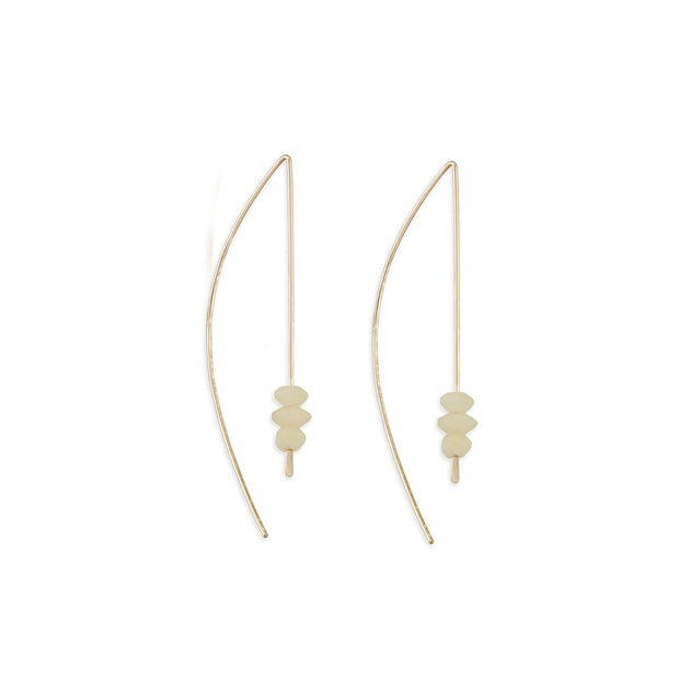 Large Arc Earring - White Onyx