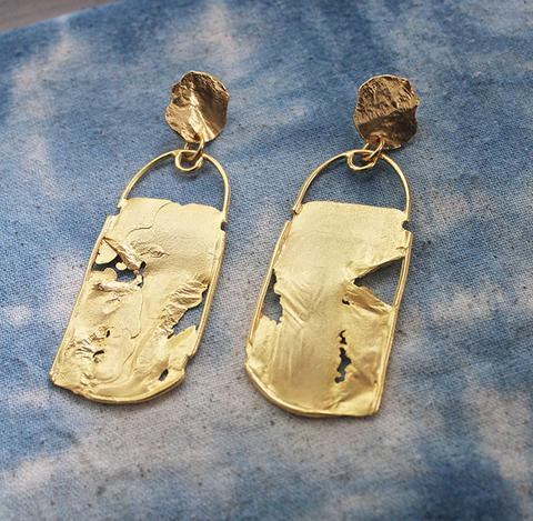 Two Clouds Above Nine Earrings