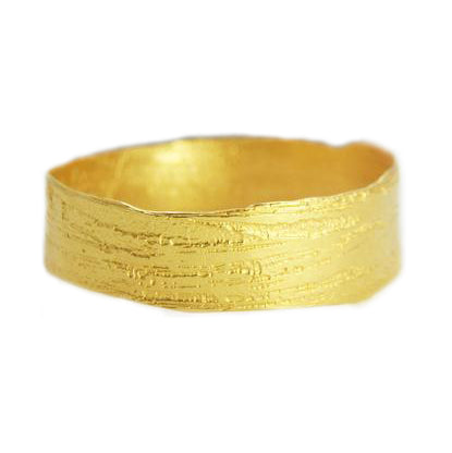 Woven Canyon Wide Etched Bangle