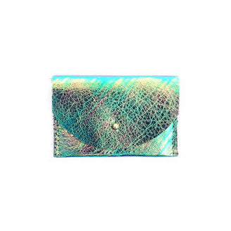 Iridescent Leather Cardholder