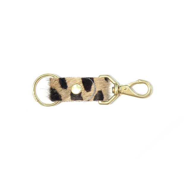 Big Cat Cowhide Keychain