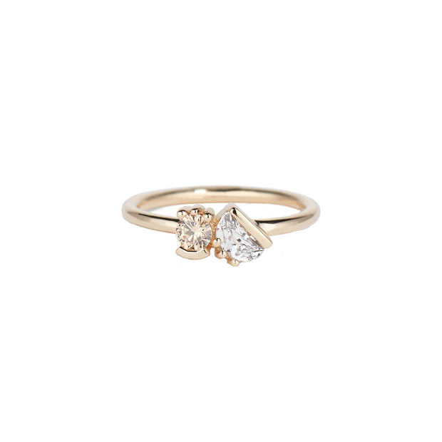 Lash Cluster Dyad Champagne Diamond Ring