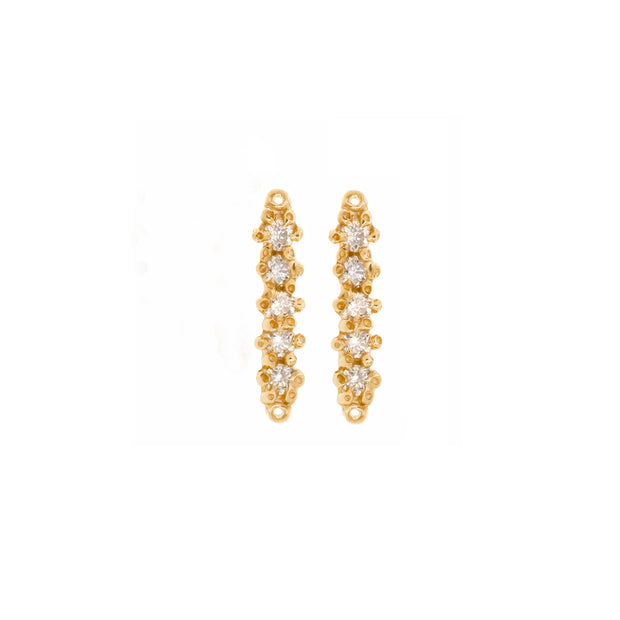Barre Studs White Diamond