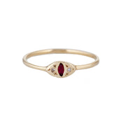 Cat Eye Ring - Ruby