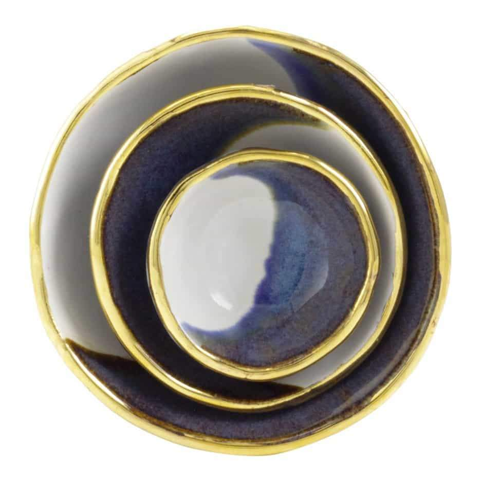 Blue Jewelry Dishes - Shelter Jewelry Shop DC