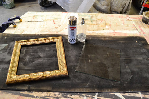 Sharon M for the Home-DIY aged mirror