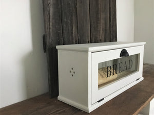 Baker's Bread Box , Removable Bread Rack, Farmhouse Style
