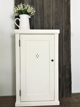 "Load image into Gallery viewer, Farmhouse Style Wall Mounted Washroom Cupboard ,  18"" x 30"" ,  Chalk Paint Finish"