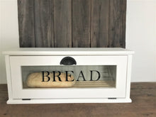 Charger l'image dans la galerie, Baker's Bread Box , Removable Bread Rack, Farmhouse Style