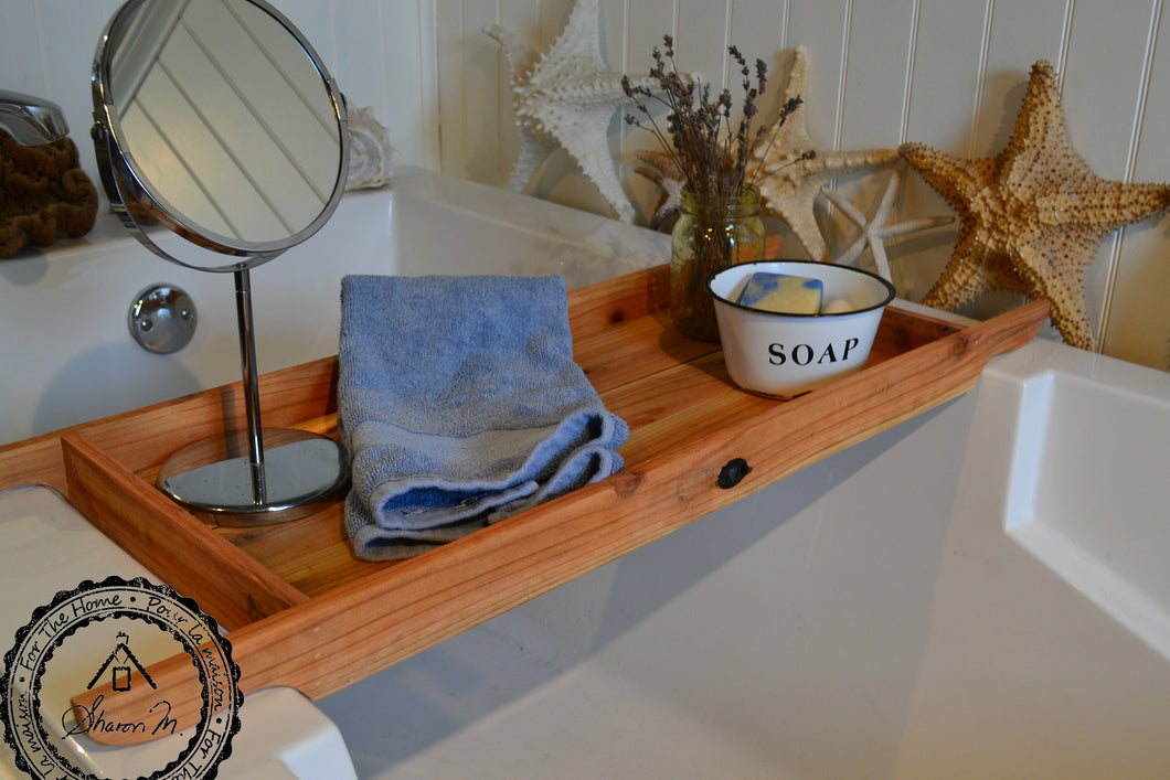 Rustic Wood Bath Tray Recycled Wood 12